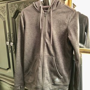 Adidas Climatewarm Gray Hoodie